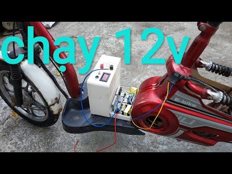 Chế Lại Xe đạp điện Chạy 12v.sơ đồ