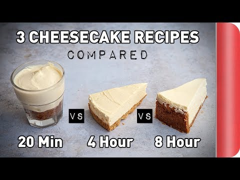 3 Cheesecake Recipes COMPARED (ft. a blindfold)