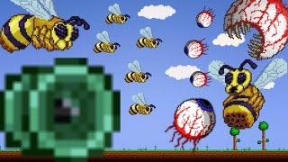 terraria the terrarian vs 1000000 eyes of ctulhu bee queens