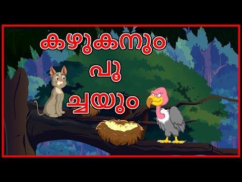 കഴുകൻ, പൂച്ച   A Blind Vulture   Moral Stories For Kids   Malayalam Cartoon For Children