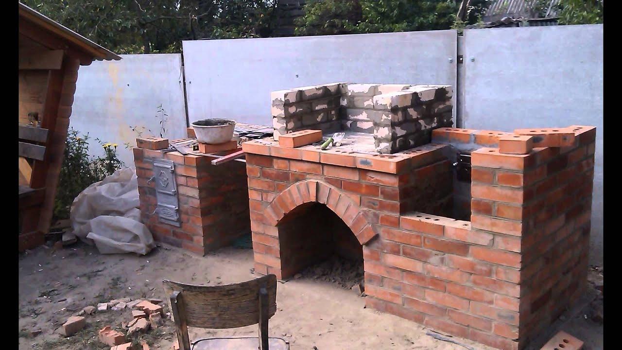 Как построить кирпичный мангал–гриль на даче