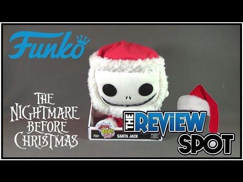 Funko POP Nightmare Before Christmas Santa Jack Skellington Plush