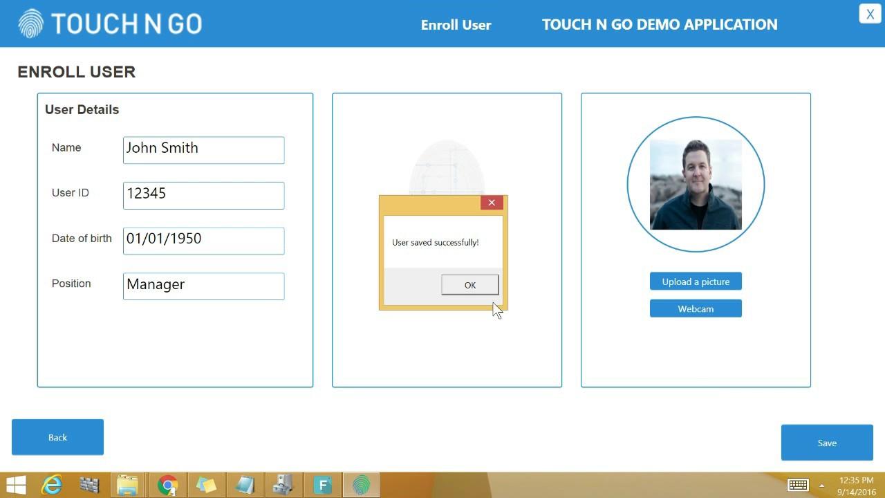 Video Demo: Touch N Go Fingerprint Authentication Platform