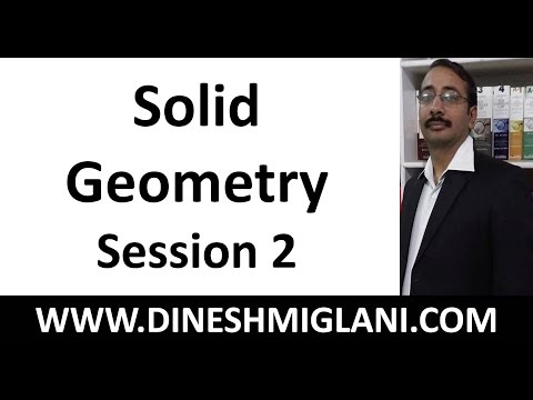 Solid Geometry ( Cone, Sphere, Pyramid, Prism) Session 2 in Hindi by Dinesh Miglani Sir