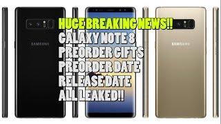 Samsung Galaxy Note 8 Preorder Gifts UPDATE