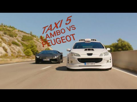 taxi 5 lambo vs peugeot 407 with music get low dillon. Black Bedroom Furniture Sets. Home Design Ideas
