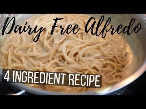 Creamy Vegan Alfredo with 4 Ingredients (Dairy-Free Vegan Cream Recipe)