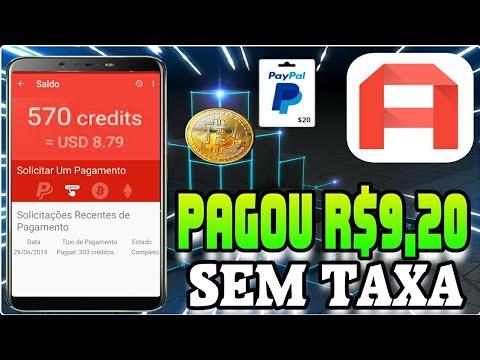Pagou R$9,20 Sem Taxa Ganhe Dinheiro no PayPal e Bitcoin from YouTube · Duration:  4 minutes 33 seconds