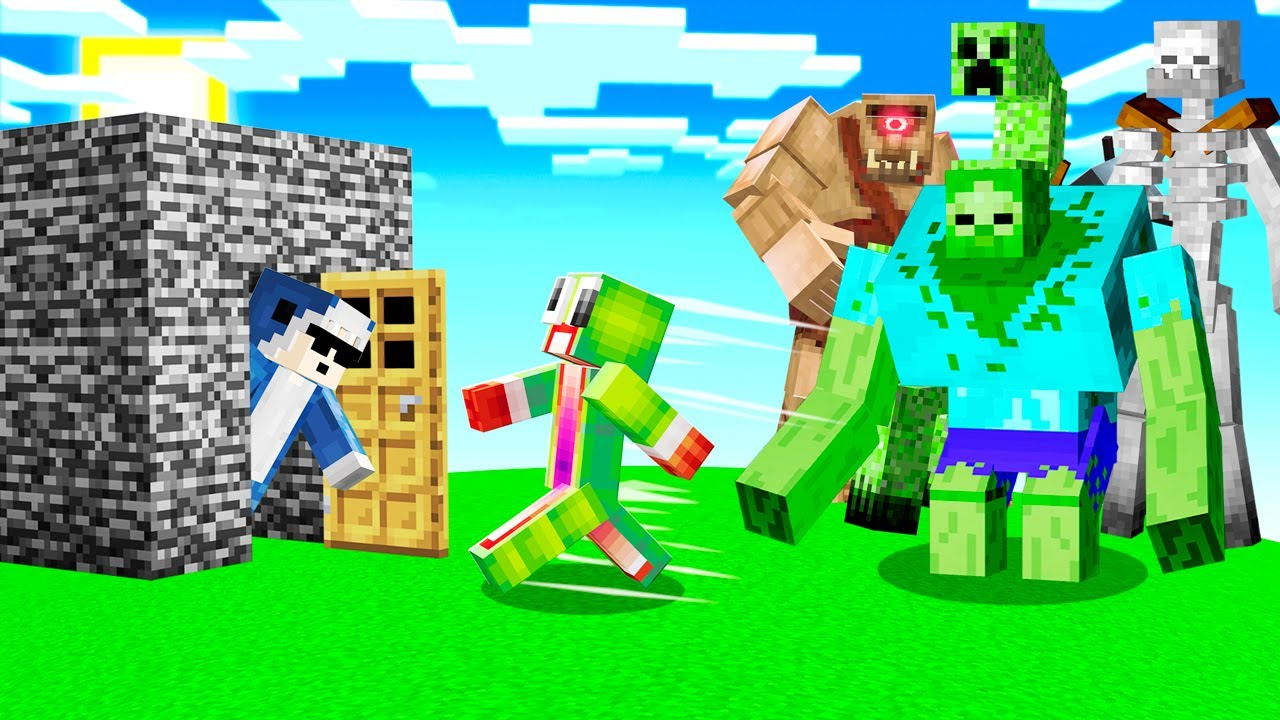 Saving UNSPEAKABLE From GIANT Minecraft MONSTERS!