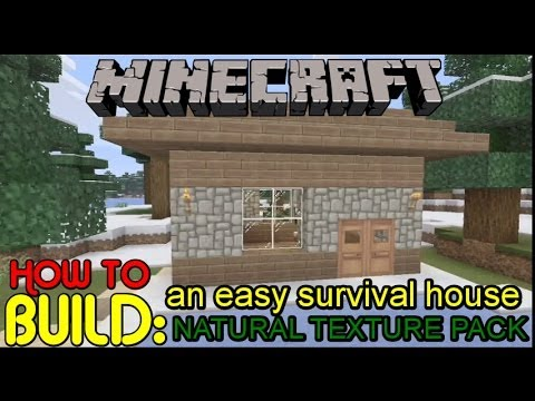 Minecraft Xbox 360 EasyQuick Cozy Cottage Style House Natural
