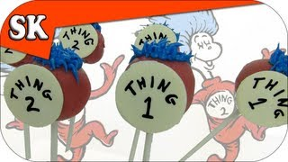 THING 1 & THING 2 POP CAKES - Doctor Seuss Cake Pops