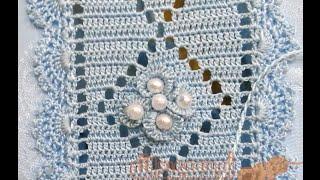 عمل وريدة داخل الكوزة سهلة و رائعة randa crochet مع أم سعد عبد الله