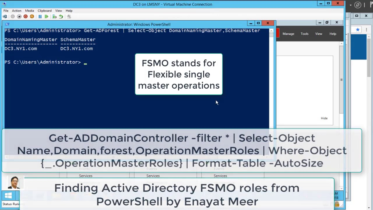 Discovering Active Directory FSMO reoles from powershell script