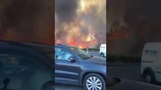 Incendio en el Polígono San Rafael en Huércal de Almería