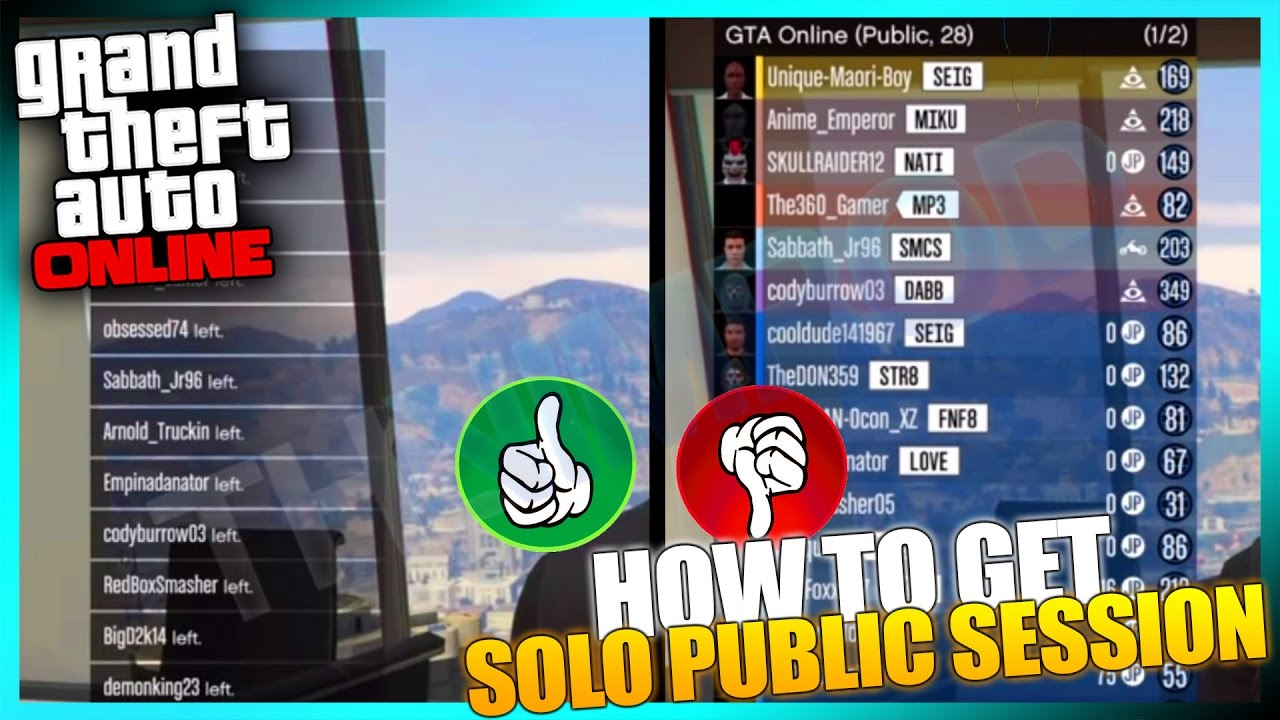 gta online how to 100 get a solo public session for import export dlc youtube. Black Bedroom Furniture Sets. Home Design Ideas