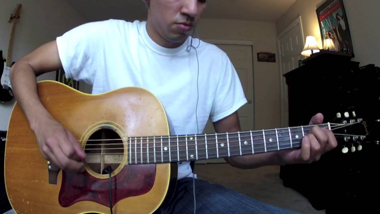 Stone Temple Pilots Interstate Love Song Acoustic Guitar Play