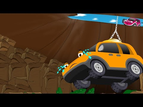 Racing Car lost in forest fell into the Pothole Rescued by Police Car Bob | Kids Cartoon Songs