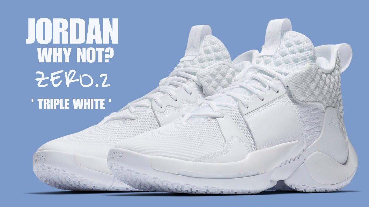 100% authentic f4a14 07140 JORDAN Why Not  Zero.2 Triple White UNBOXING  jordan  russellwestbrook  okc   mj23  nba  nike