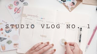 studio vlog no. 1   packing orders & bullet journaling