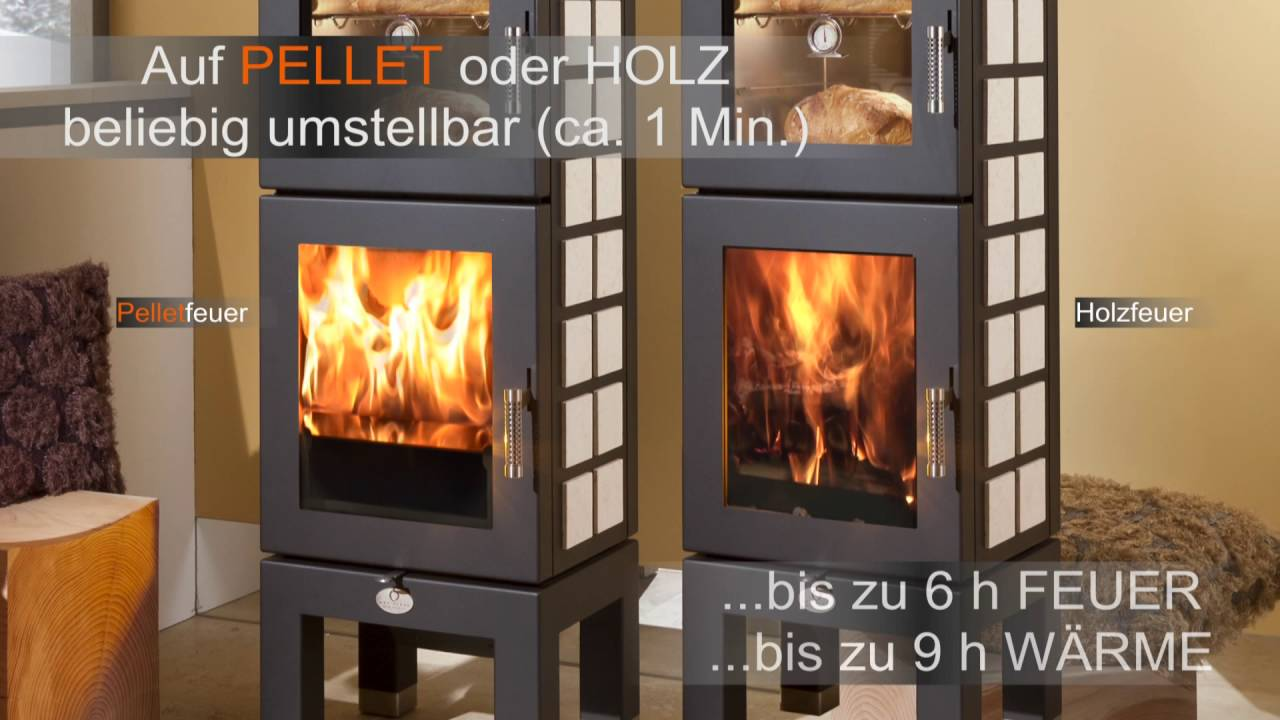 pellet ofen ohne strom als pellet holz kombi schwedenofen youtube. Black Bedroom Furniture Sets. Home Design Ideas