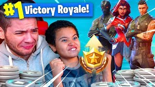 1 KILL = 1 BATTLE PASS SKIN FOR MY 9 YEAR OLD BROTHER! 9 YEAR OLD PLAYS SOLO FORTNITE BATTLE ROYALE!