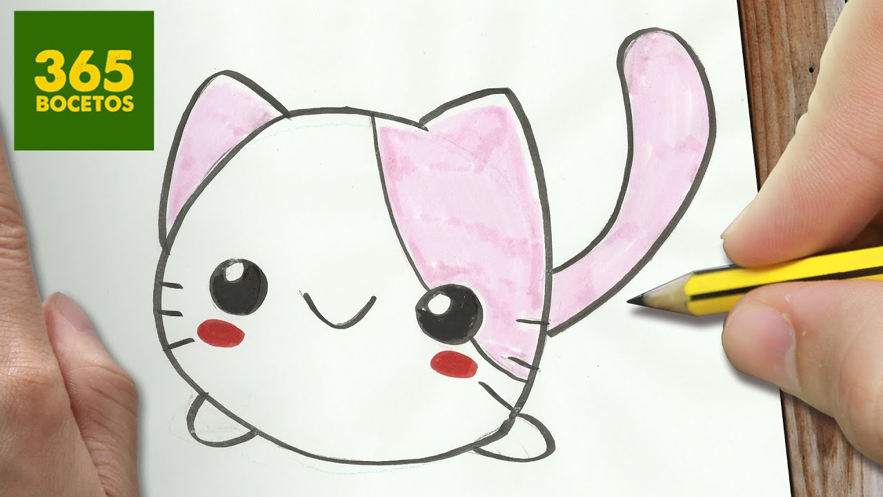 COMO DIBUJAR GATO KAWAII PASO A PASO , Dibujos kawaii faciles , How to draw a CAT , YouTube