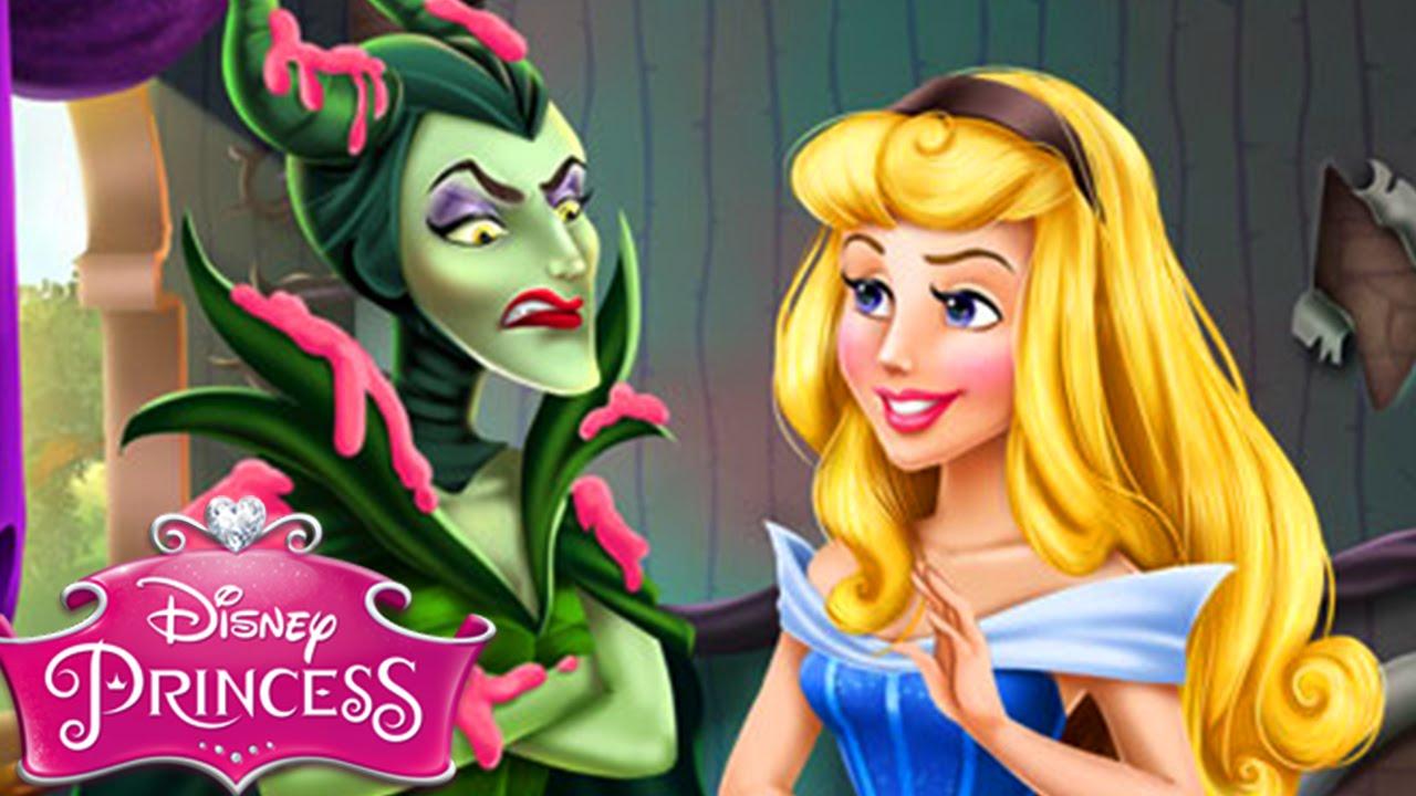 Disney Princess Aurora Vs Maleficent Spell Rivals Sleeping Beauty Game For Kids Girls
