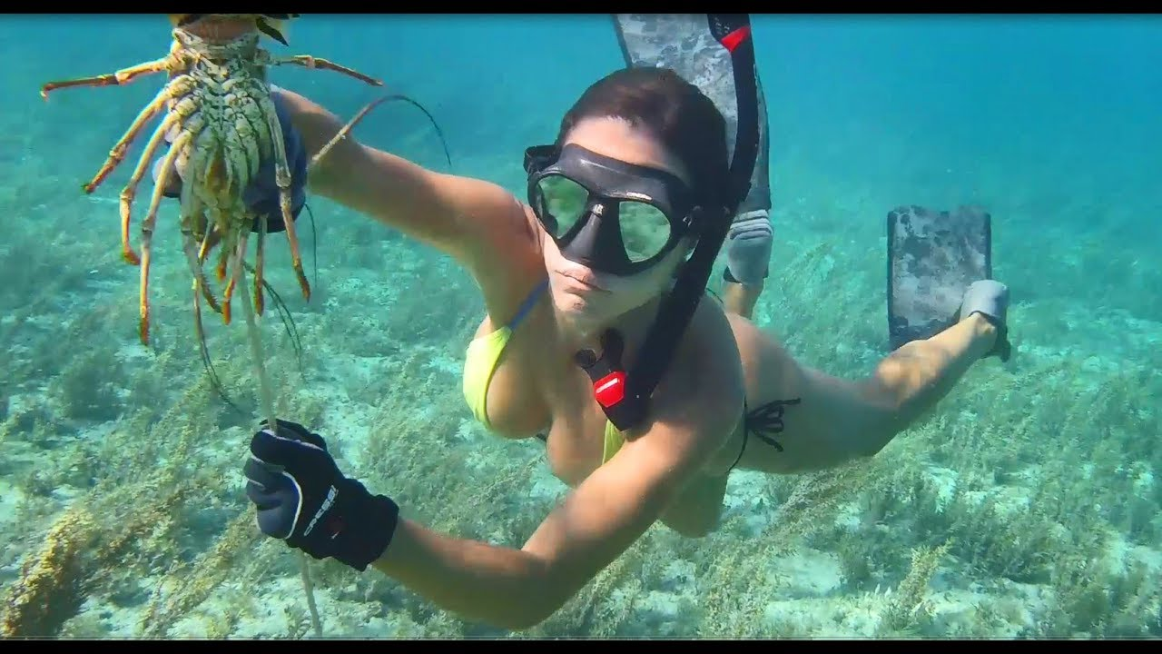 Spearfishing & lobstering in Grand Bahama! - YouTube