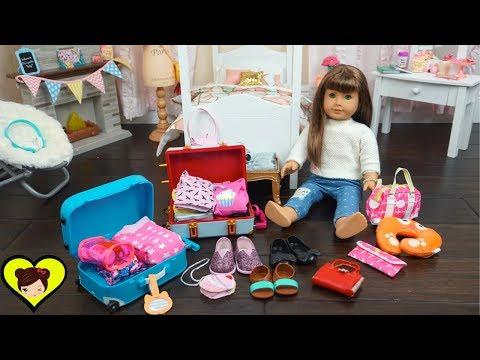 Empacando Maletas de Viaje Para Mi Muñeca American Girl - Juguetes de Titi