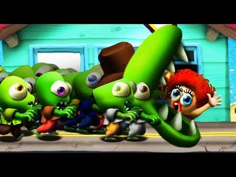 Zombie Tsunami #12 Игровой мультик для детей про зомби, веселый детский мультик игра для малышей