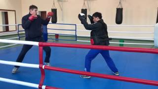 Жантасов Жаслан работа на лапах подготовка к чемпионату мира