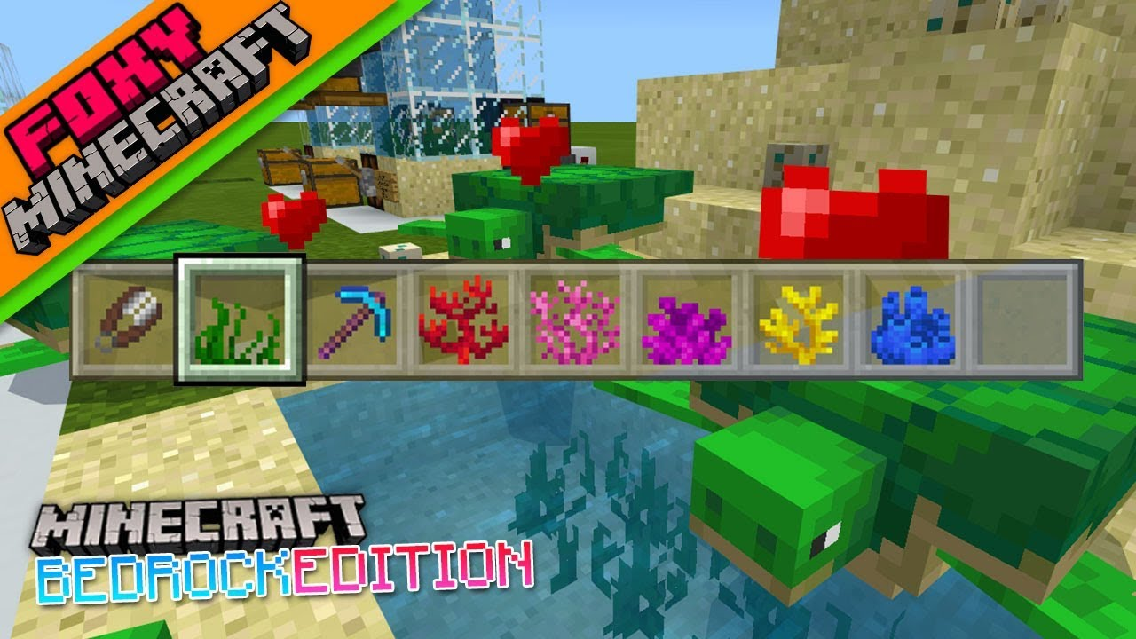 minecraft turtle farm bedrock