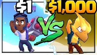 $1 Account vs. $1,000 Account in Brawl Stars!