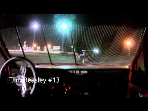 Jim Beasley #13 Kankakee County Speedway Sport Compact heat race #3 9-26-14