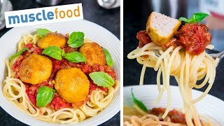 LEAN Turkey Spaghetti Meatballs Recipe - 27G PROTEIN p/serving - Muscle Food Recipes