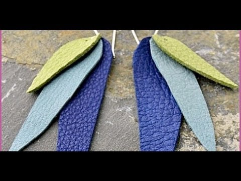 Jewely How To - -Make Leather Petal Earrings