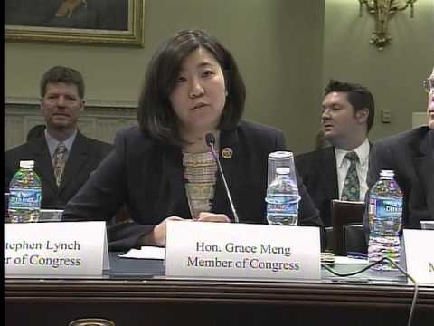Rep. Meng testifying at the Natural Resources Committee on her bill, HR 3222