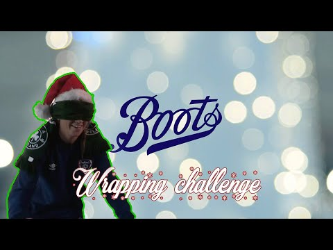 Katie McCabe takes on the Boots Wrapping Challenge