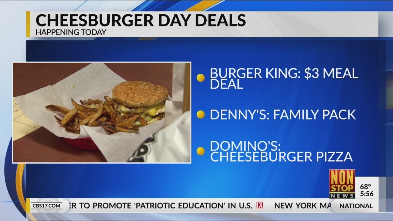 It's National Cheeseburger Day! Check these specials around ...