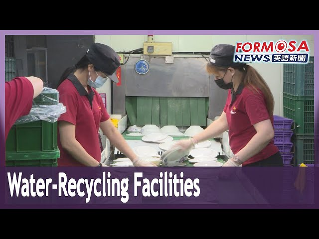 Water-conserving and water-recycling dishwashing facility flourishes