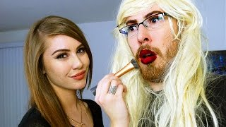Girlfriend Does My Makeup Challenge Vloggest