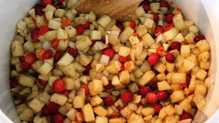 Holiday Canning: A Savory Apple-Cranberry Chutney ~ The Kneady Homesteader