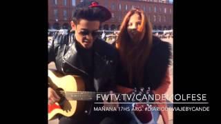 Candelaria Molfese y Ruggero Pasquarelli canta rescata mi corazon