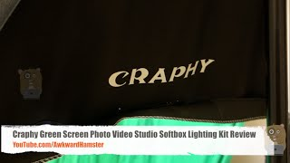Craphy Green Screen Photo Video Studio Softbox Lighting Kit Review