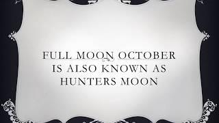 FULL MOON OCTOBER 2018