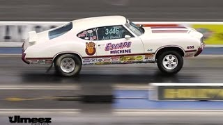 "'70 OLDS 442 ""ESCAPE MACHINE"" STOCK ELIMINATOR RUNS 11.26@117.61"