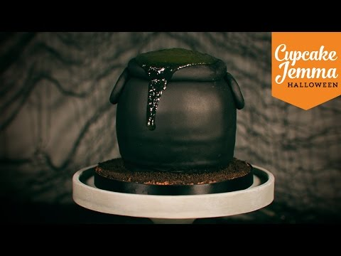Make How to make a Slime-Filled Bubbling Cauldron Cake for Halloween | Cupcake Jemma Images