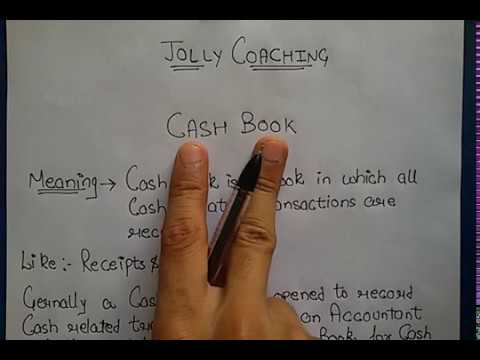 Single Column CASH BOOK in Hindi for 11th class with Example By JOLLY Coaching