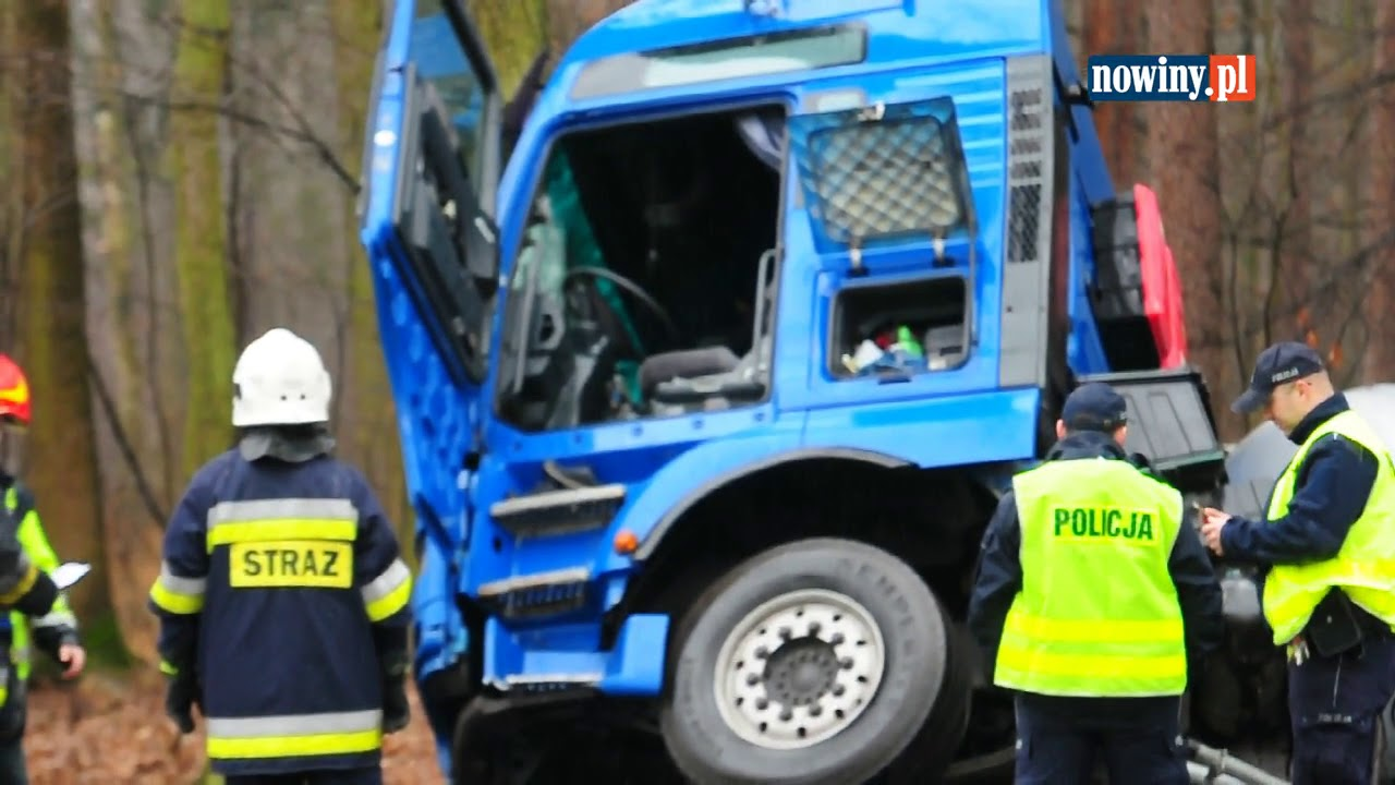Wypadek ciężarówki w Rudach – 16 marca 2017