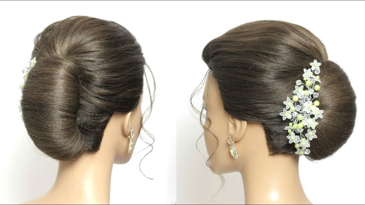 simple french roll. juda hairstyle for long hair tutorial